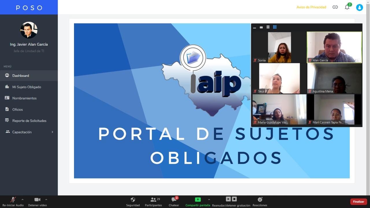 IAIP realiza Webinar en materia de Funcionalidad del POSO