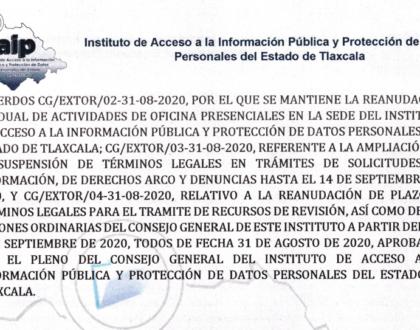 IAIP anuncia reanudación de plazos para Recursos de Revisión y Sesiones Ordinarias