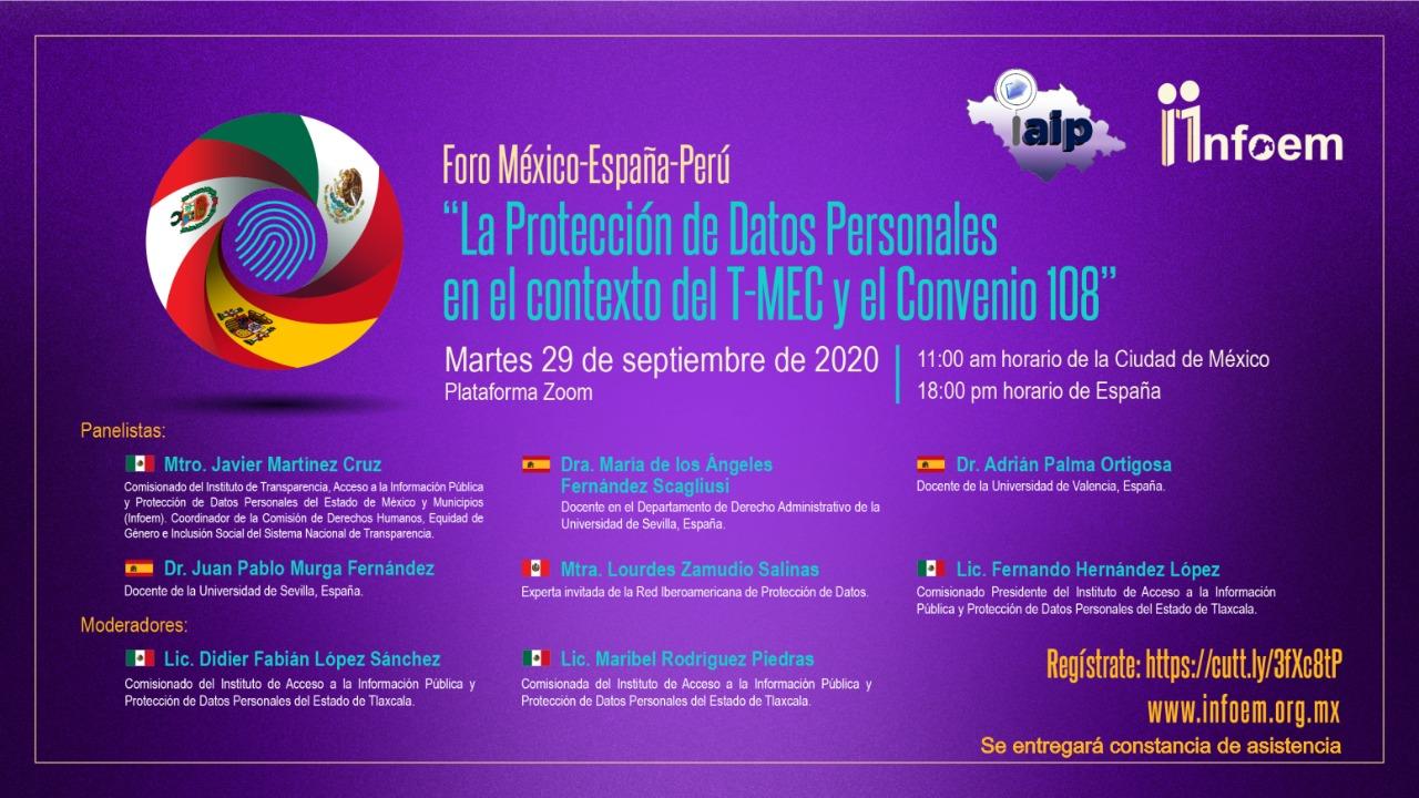 INVITA IAIP a foro internacional México-España-Perú