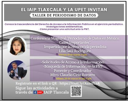 """Convocan UPET-IAIP a participar en el """"Taller de Periodismo de Datos"""""""