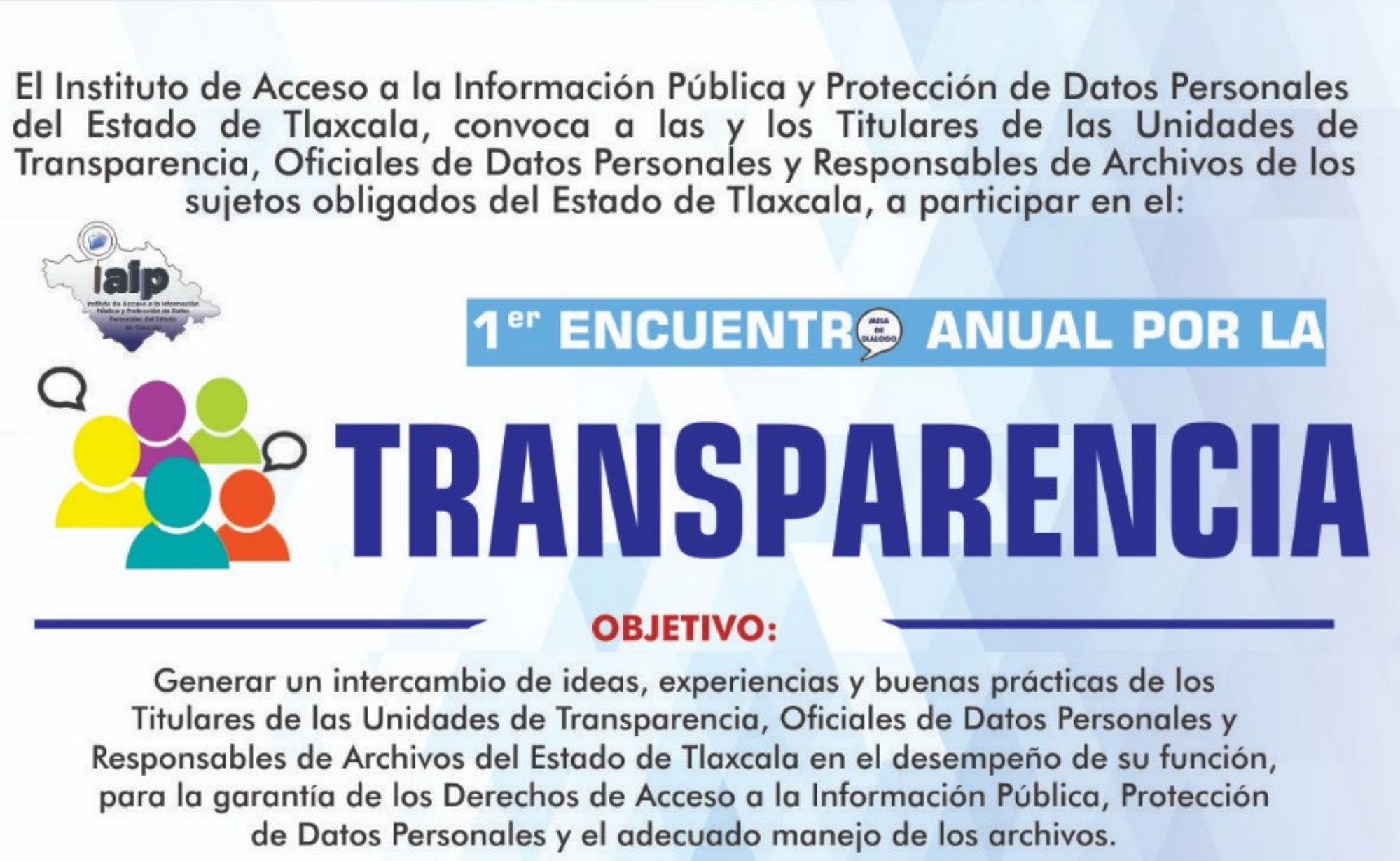 """Convoca IAIP Tlaxcala a """"Encuentro Anual por la Transparencia"""""""