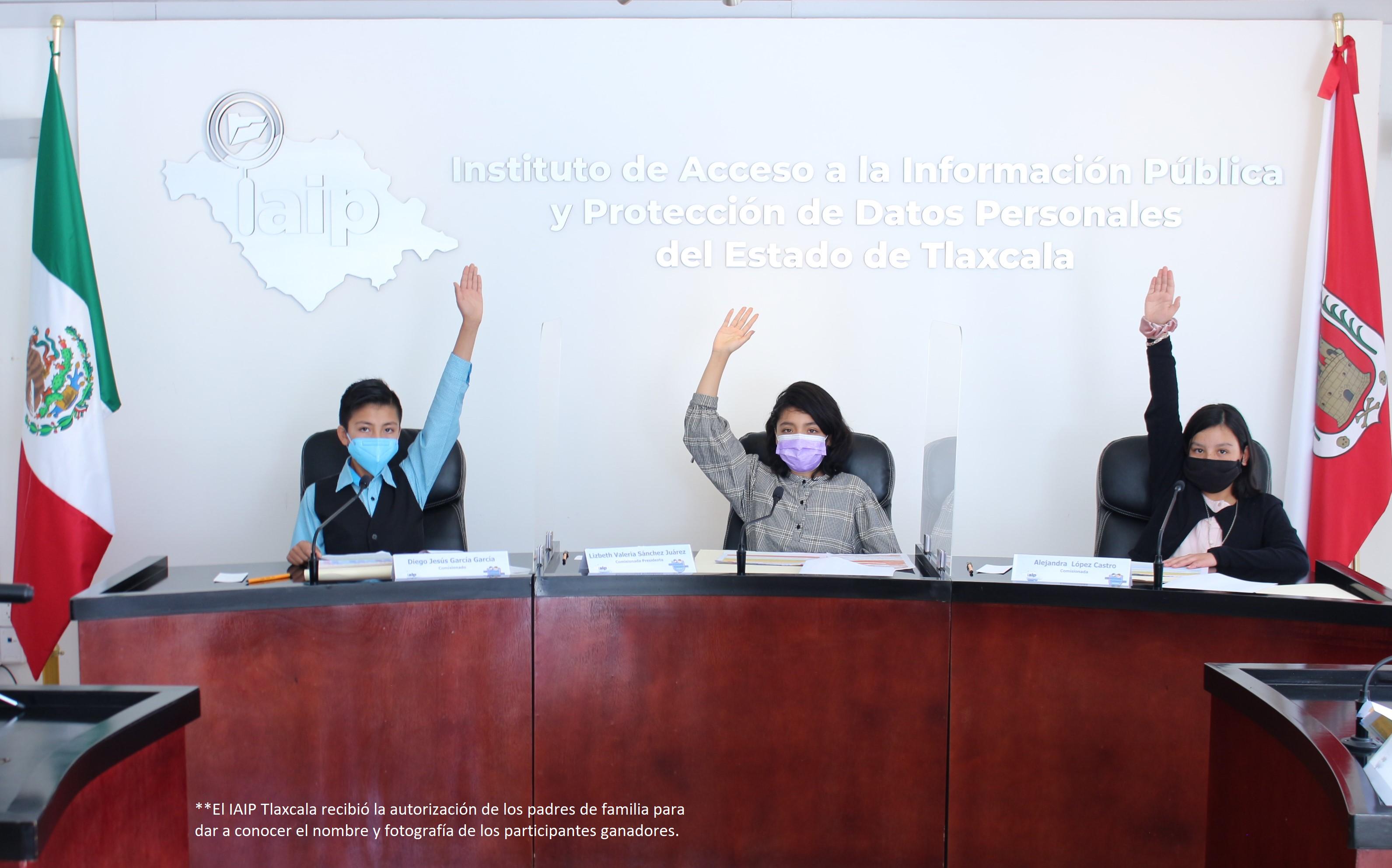 Comisionados Infantiles del IAIP urgen a la niñez a proteger Datos Personales